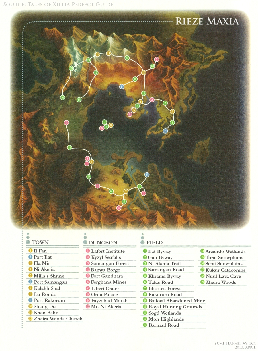 Tales Of Xillia 2 World Map | Campus Map